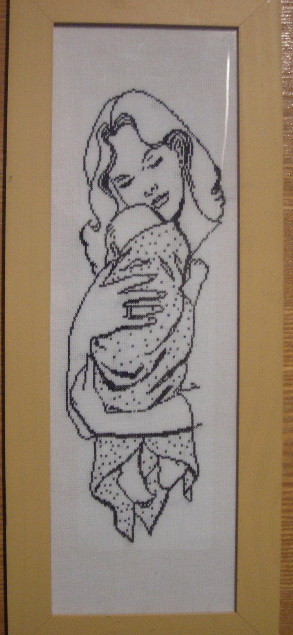 Вышивка мать и дети 114